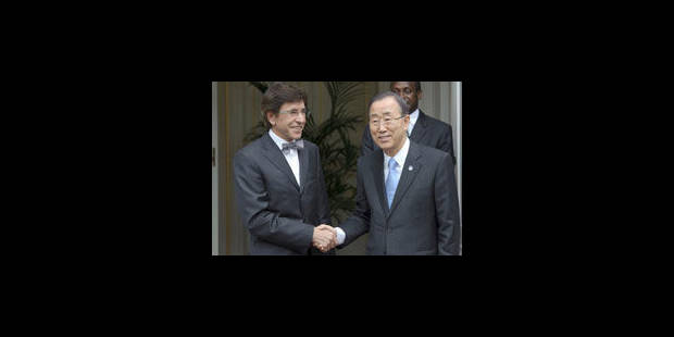 Ban Ki-Moon est en visite à Bruxelles - La Libre