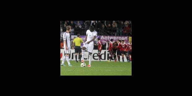 Anderlecht rate le coche face à l'AC Milan (1-3)