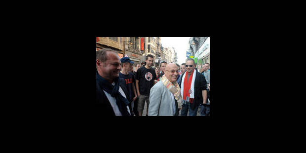 Les supporters rouches ont réclamé le retour de Lucien D'Onofrio - La Libre