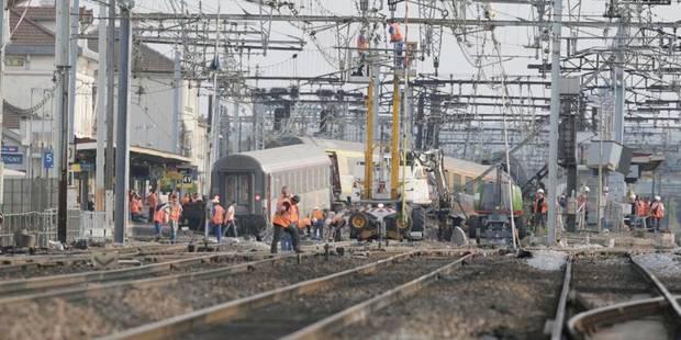 Brétigny: un premier train de voyageurs a traversé la gare - La Libre