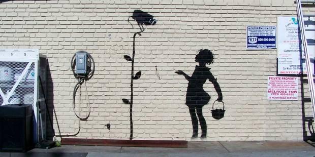 Un graffiti de Banksy mis aux enchères à Beverly Hills - La Libre