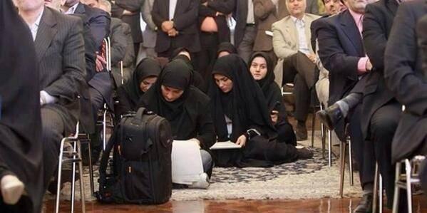 Ces clichés troublants de femmes journalistes en Iran