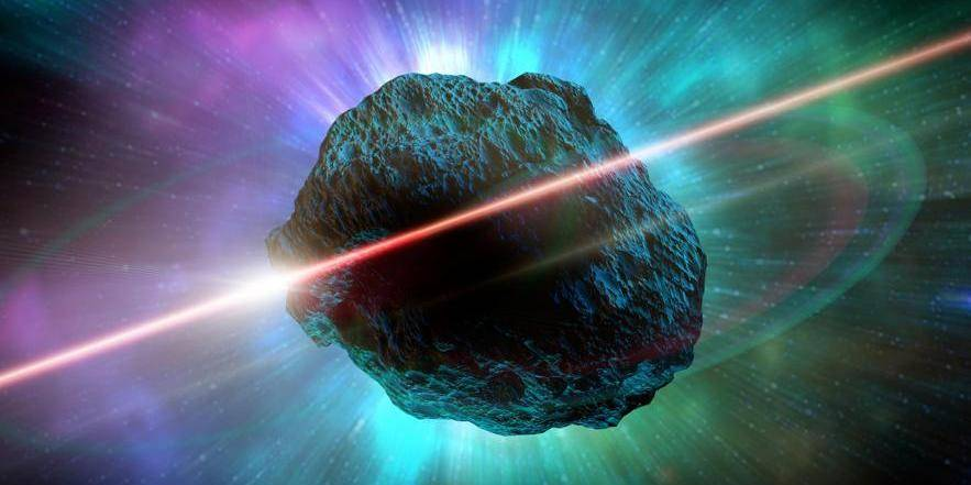 Meteor in space, artwork