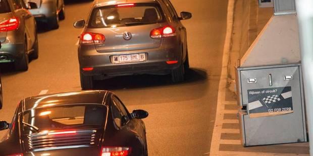 Tunnel Bailli: 78% des conducteurs en excès de vitesse - La Libre