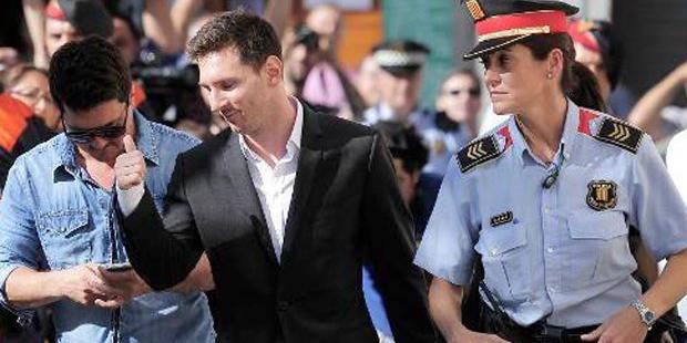 Messi a passé plus de deux heures devant les juges
