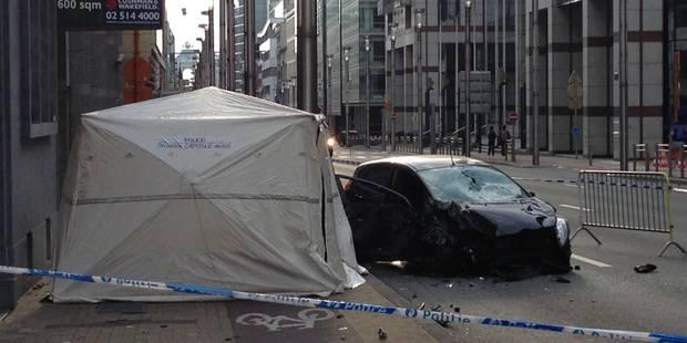 Un piéton tué sur un trottoir de la rue de la Loi à Bruxelles - La Libre