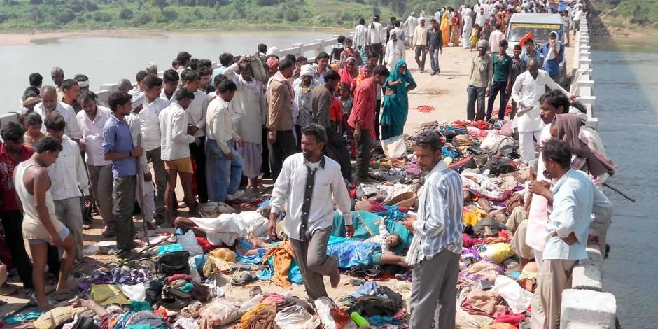 Plus de 100 morts dans une bousculade près d'un temple en Inde