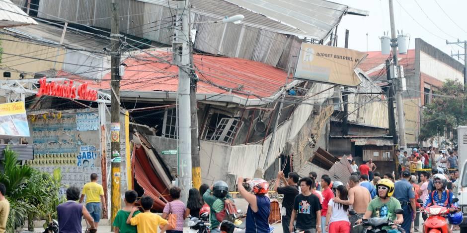 Au moins 73 morts dans un puissant séisme aux Philippines