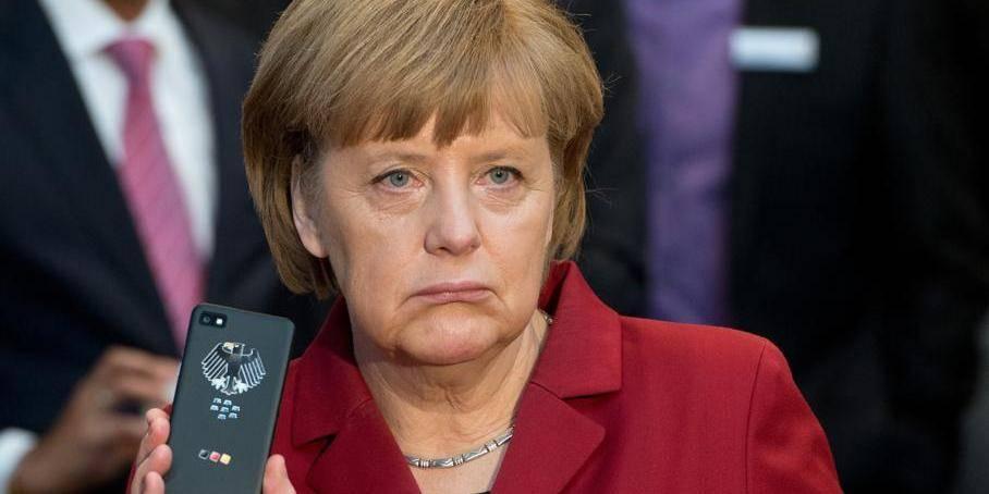 Merkel espionnée, Merkel ridiculisée