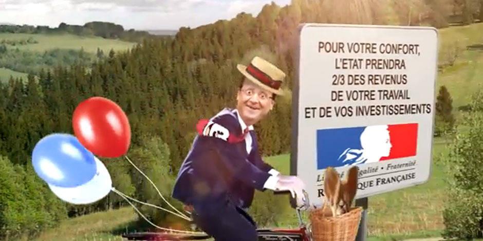 """Je taxe"", le tube suisse qui charrie Hollande"