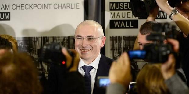 Khodorkovski va se battre pour les prisonniers politiques - La Libre