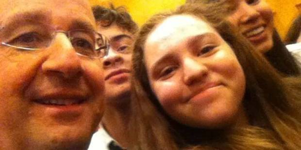 François Hollande couronné roi du selfie