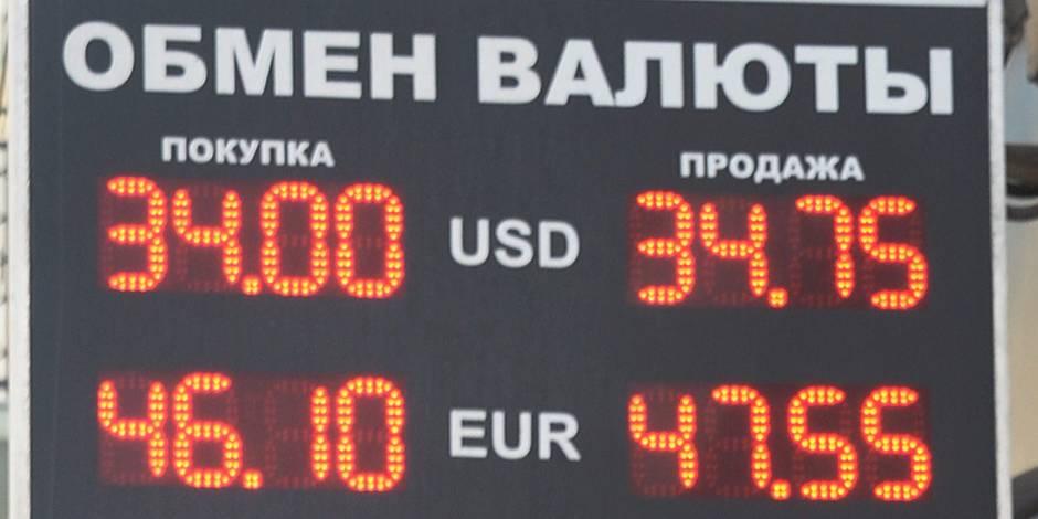 Le rouble chute, l'euro dépasse 49 roubles pour la première fois