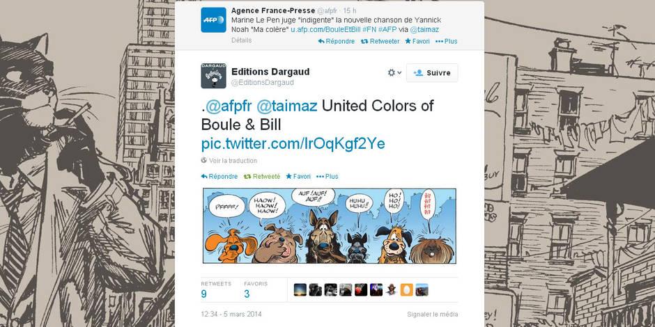 Le Pen, Noah et... Boule et Bill énervent Dargaud
