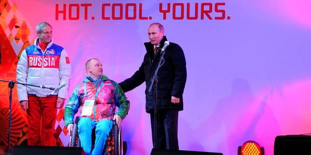 Poutine déclare ouverts les jeux Paralympiques - La Libre
