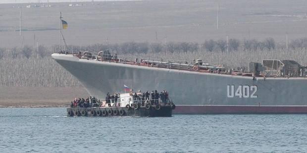 Les Russes se sont emparés du dernier navire ukrainien en Crimée - La Libre