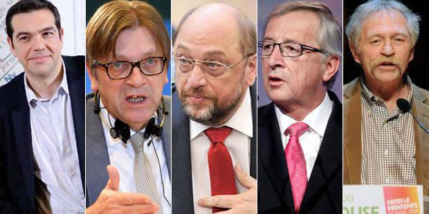 Elections14: Schulz, Juncker, Verhofstadt, Bové et Tsipras débattront en direct sur Euronews - La Libre