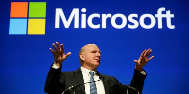 Microsoft lance le plus grand plan social de son histoire - La Libre