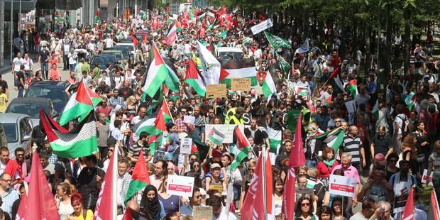 Manifestation propalestinienne à Bruxelles: une dizaine de jeunes interpellés - La Libre