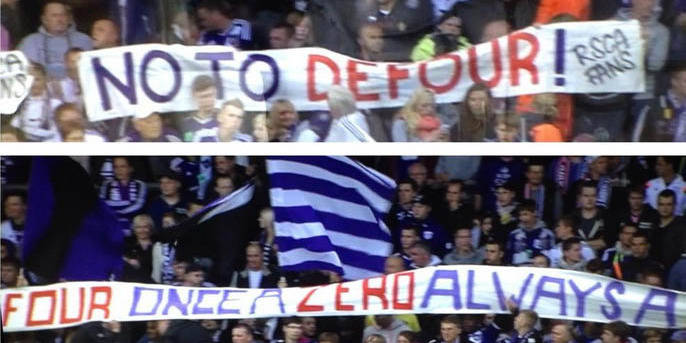 Defour mal accueilli par des supporters d'Anderlecht