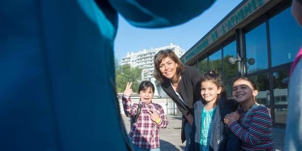 Joëlle Milquet a fait sa rentrée scolaire à Ganshoren - La Libre