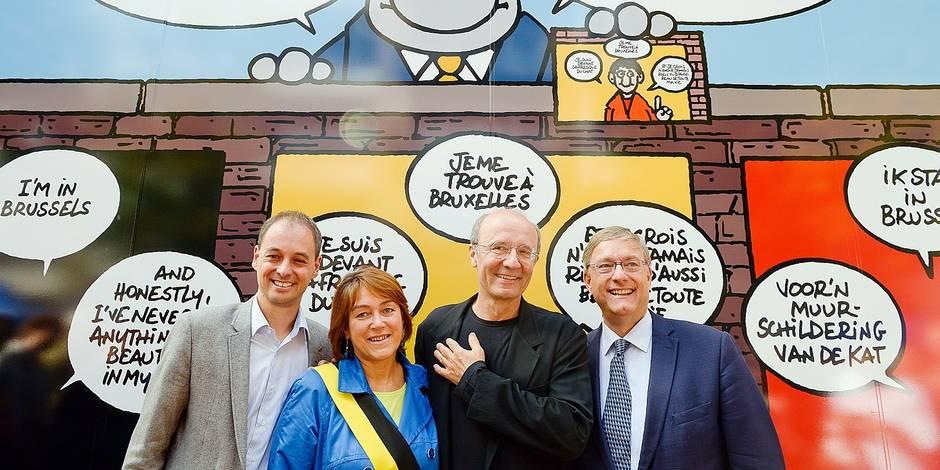 Geluck signe la plus longue fresque BD du monde - La Libre