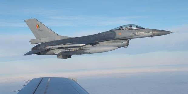 La Belgique félicitée pour la première mission de ses F-16 en Irak - La Libre