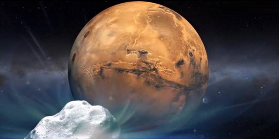 Une comète a rendez-vous ce dimanche avec Mars