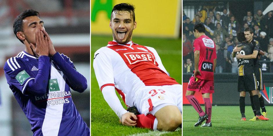 Anderlecht gagne sans convaincre à Courtrai, le Standard in extremis contre le Cercle