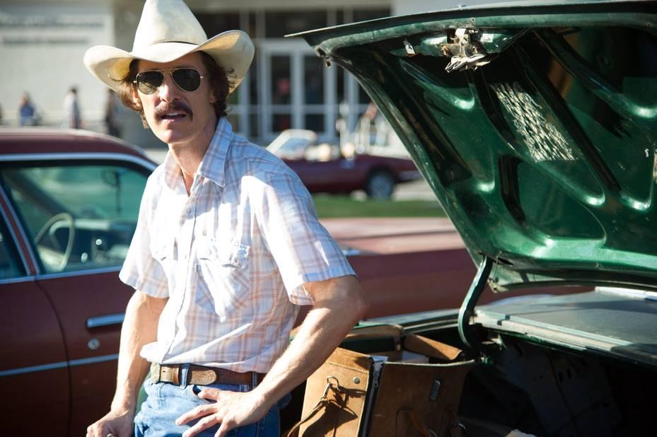 Matthew Mcconaughey, peau sur les os et longue moustache pour le film Dallas Buyers Club