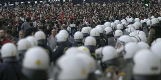 À Athènes, 10.000 manifestants et... 7.000 policiers