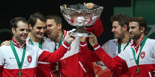 """Coupe Davis : Federer parle d'un moment """"historique"""" pour la Suisse (PHOTOS ET VIDEOS) - La Libre"""