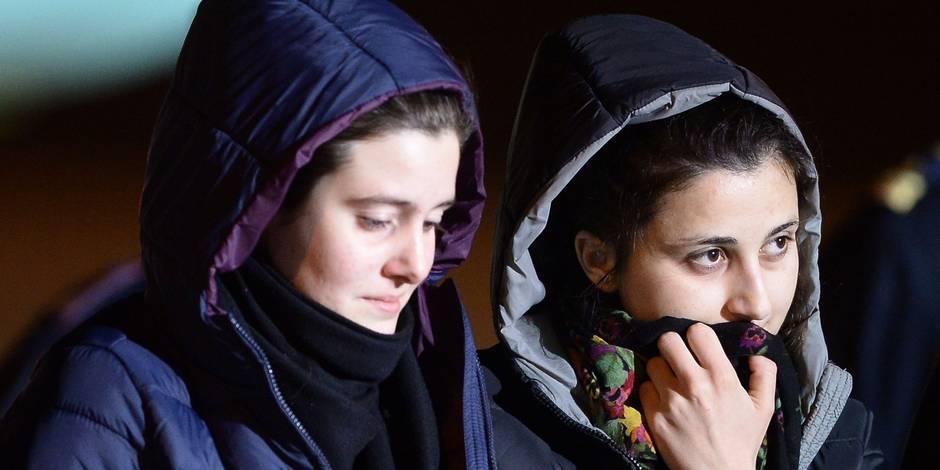 Deux jeunes humanitaires italiennes enlevées début août en Syrie rentrées à Rome