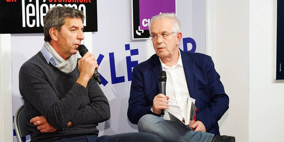 French doctor, TV journalist and author Michel Cymes answers the media as he signs copies of his latest book, 'Hippocrate aux enfers - Les medecins des camps de la mort' at Librairie Kleber bookstore in Strasbourg, eastern France on January 30, 2015. Photo by Christian Creutz/ABACAPRESS.COM Reporters / Abaca