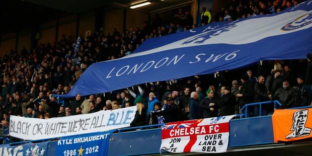 Incident raciste: banderole et maillots contre la discrimination à Chelsea - La Libre