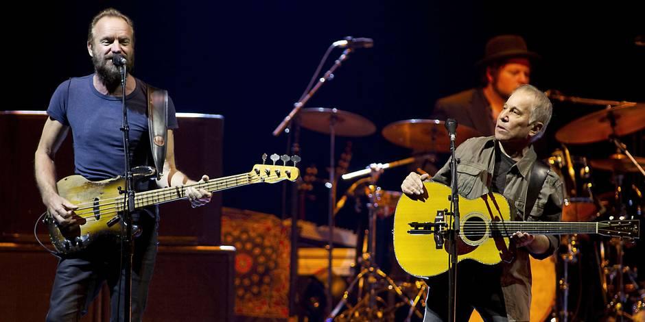 Paul Simon et Sting, un double set bien trop sage