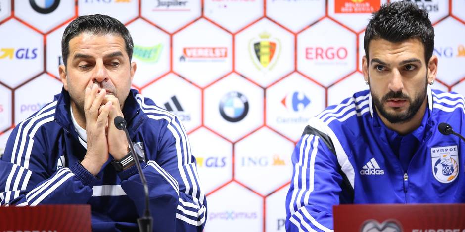 """Pour le sélectionneur chypriote, la Belgique est """"l'une des meilleures équipes du monde"""" (Vidéos)"""