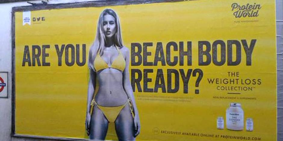 """""""Are you beach body ready"""": jugée sexiste, l'affiche qui irrite!"""