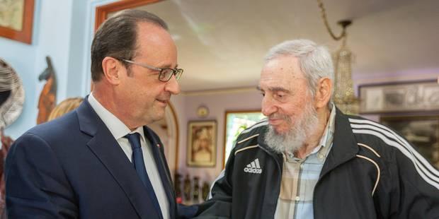 François Hollande se prend une droite après sa rencontre avec Fidel Castro - La Libre