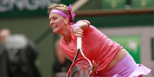 Roland Garros: débuts laborieux mais gagnants de Kvitova, Wozniacki au deuxième tour - La Libre