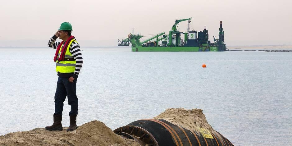 Ces Belges qui font le nouveau canal de Suez - La Libre