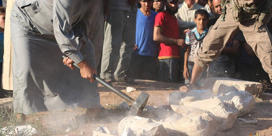 L'Etat islamique détruit des bustes funéraires de Palmyre