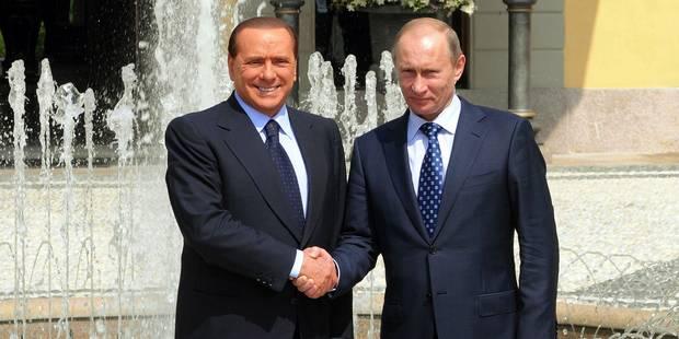 Berlusconi bientôt sous les ordres de Poutine ? - La Libre