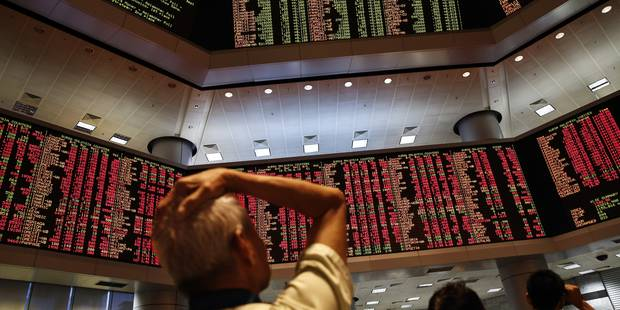 Les Bourses européennes clôturent en forte baisse (-5%) - La Libre