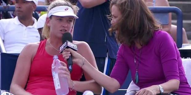 US Open: une joueuse donne une interview en plein match (Vidéo) - La Libre
