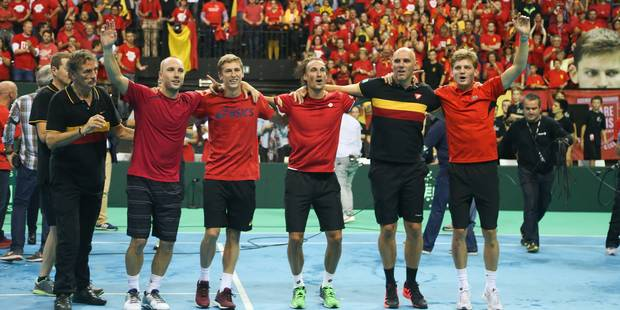 Coupe Davis: Historique, Darcis envoie la Belgique en finale (6-4; 2-6 ; 7-5 ; 7-6) - La Libre