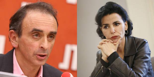 Quand Eric Zemmour réprimandait Rachida Dati à cause du prénom de sa fille - La Libre