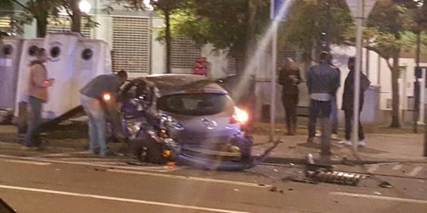 Schaerbeek : un voleur de voiture provoque un crash et parvient à prendre la fuite (VIDEO) - La Libre