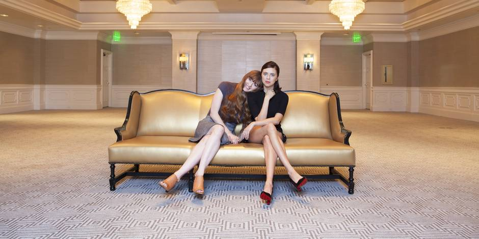 """In this Tuesday, July 28, 2015 photo, Marielle Heller, left, and Bel Powley, pose for a portrait in promotion of their new film """"The Diary of a Teenage Girl,"""" at the London Hotel in West Hollywood, Calif. The movie releases in U.S. theaters on Aug. 7, 2015. (Photo by Rebecca Cabage/Invision/AP)"""