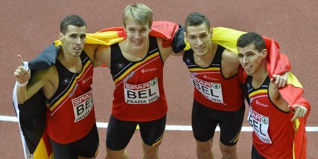 L'équipe du relais 4x400 m lauréate du Mérite Sportif - La Libre
